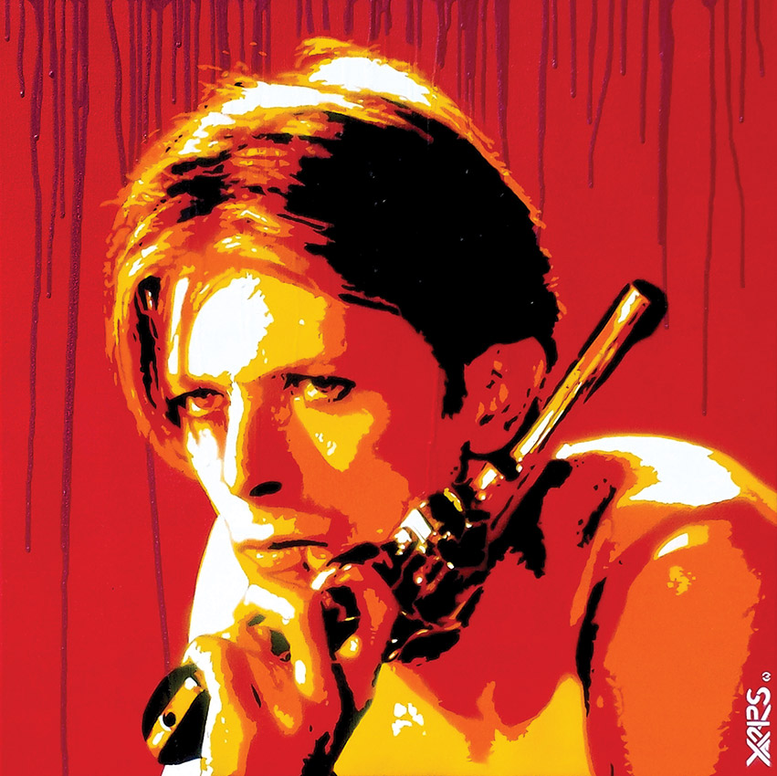 Yarps - david bowie - Stencil art - collectif avc