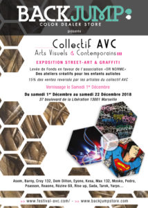 Flyer Exposition Backjumpstore - Collectif AVC