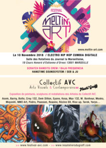 Flyer collectif AVC au festival Meltin Art