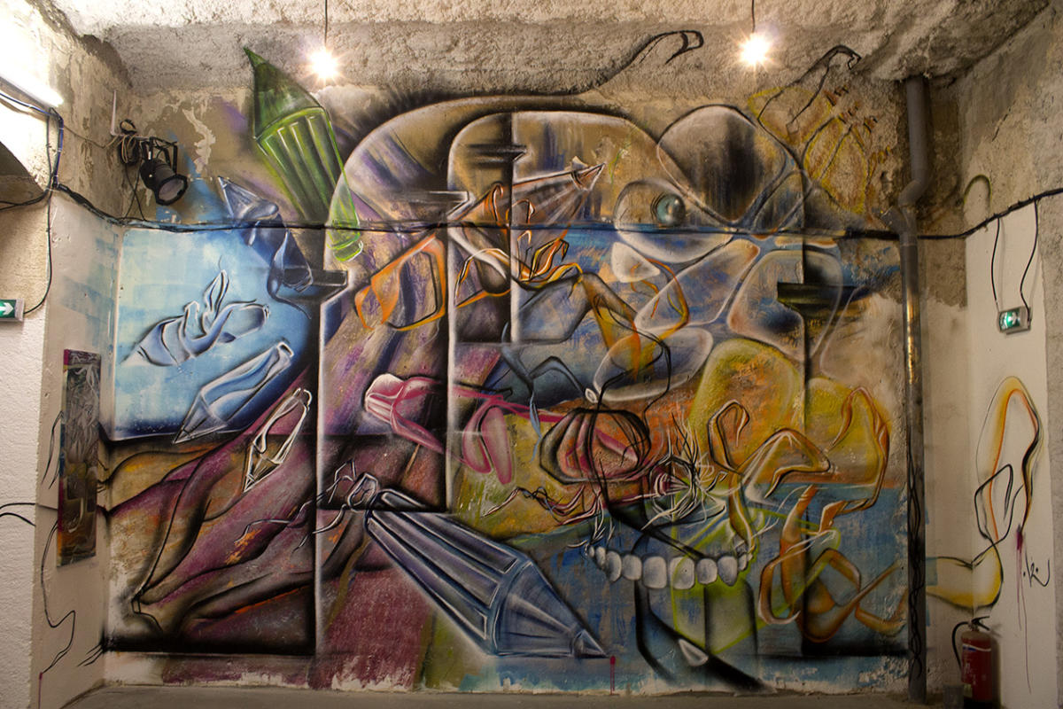 POASSON - Superposition - fresque & toiles - Marseille 3013 - Collectif AVC